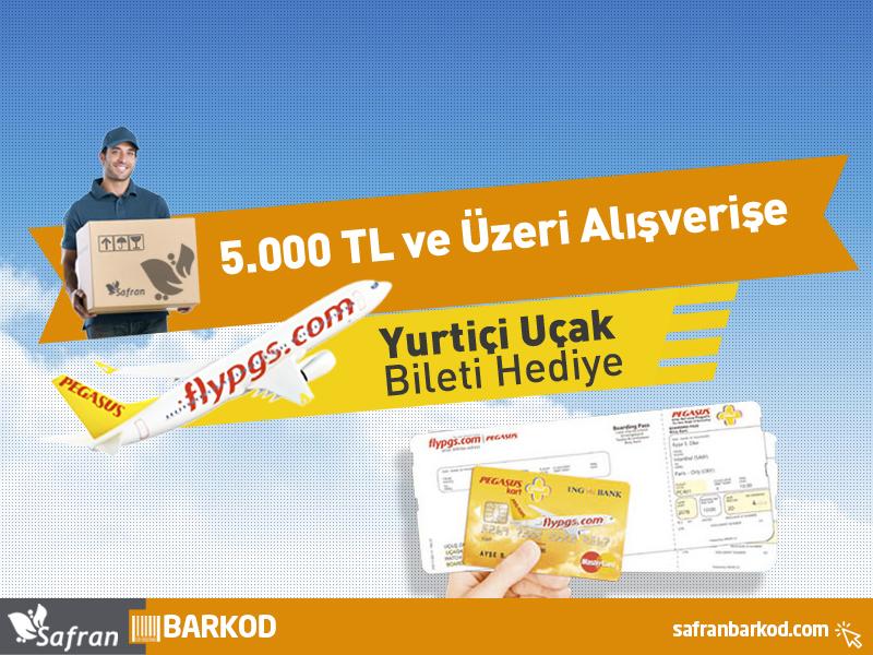 5.000TL ve Üzeri Alışverişe Yurtiçi Uçak Bileti Hediye (PGS ile)