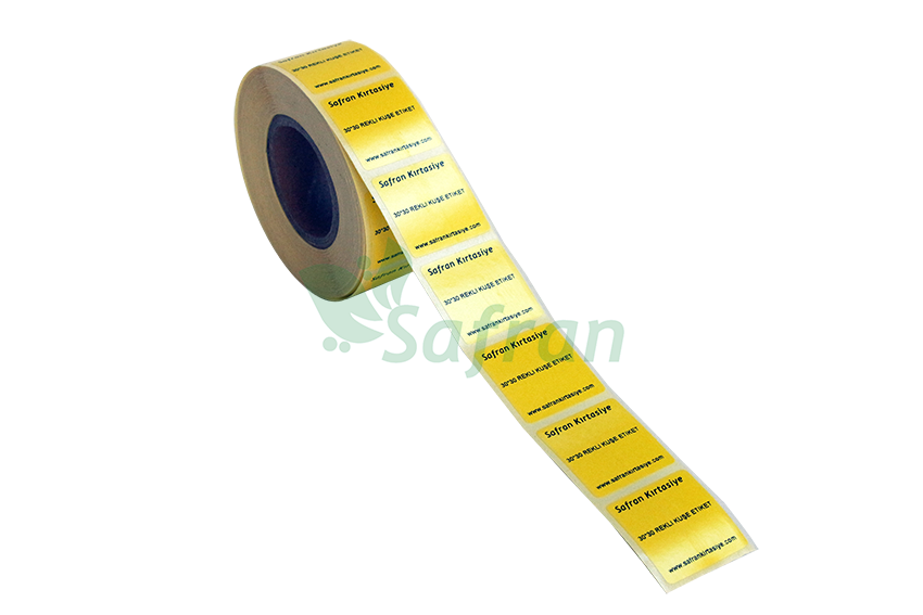 30X30 KUŞE ETİKET SARI ( 2000 Lİ )
