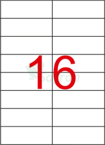 RENKLİ  LAZER ETİKET   105 X 37.11