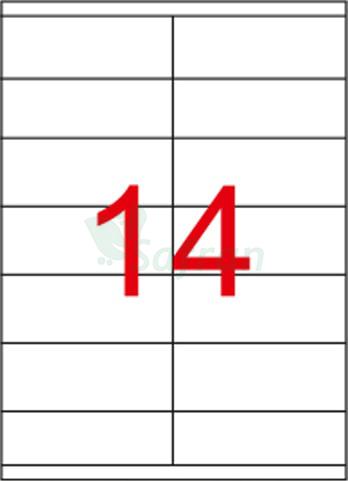 RENKLİ  LAZER ETİKET   105 X 38