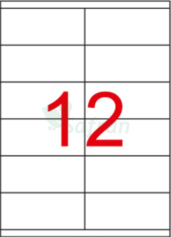RENKLİ  LAZER ETİKET   105 X 46