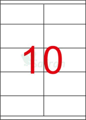 RENKLİ  LAZER ETİKET   105 X 56