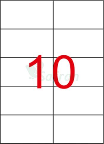 RENKLİ  LAZER ETİKET   105 X 57