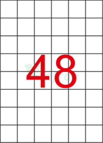 RENKLİ LAZER ETİKET 35 X 35