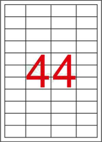 RENKLİ LAZER ETİKET 48.5 X 25.4