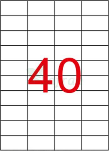 RENKLİ LAZER ETİKET 52.5 X 29.68