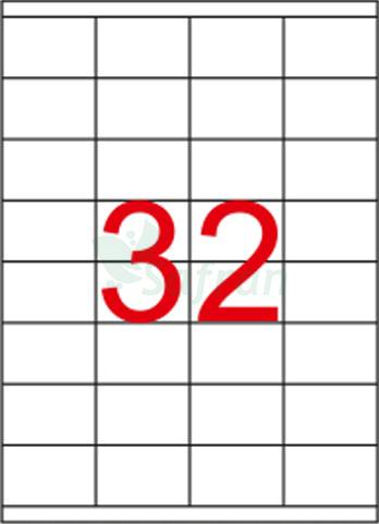 RENKLİ LAZER ETİKET 52.5 X 35