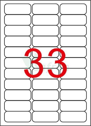 RENKLİ LAZER ETİKET 63.5 X 25.4