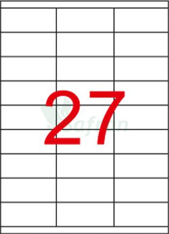 RENKLİ LAZER ETİKET 70 X 32