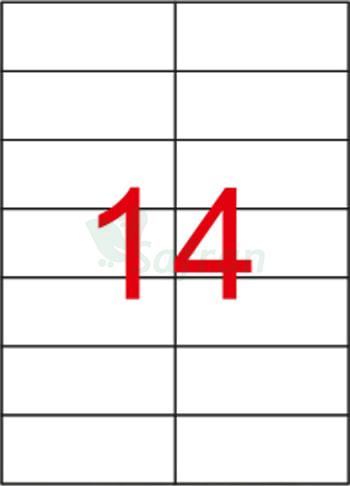 ŞEFFAF LAZER ETİKET 105 X 42.12