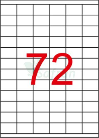 ŞEFFAF LAZER ETİKET 35 X 23