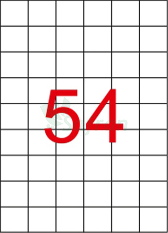 ŞEFFAF LAZER ETİKET 35 X 32.98