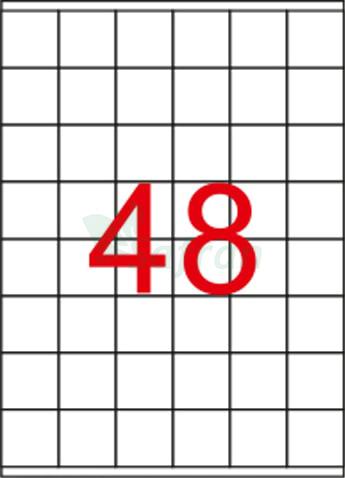 ŞEFFAF LAZER ETİKET 35 X 37.11
