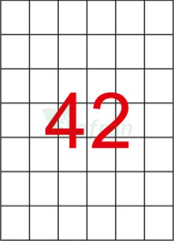 ŞEFFAF LAZER ETİKET 35 X 42.12