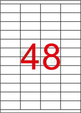 ŞEFFAF LAZER ETİKET 52.5 X 23