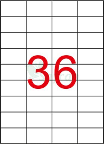 ŞEFFAF LAZER ETİKET 52.5 X 33