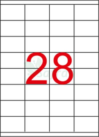 ŞEFFAF LAZER ETİKET 52.5 X 41