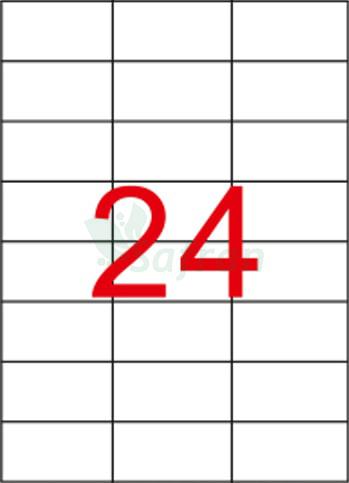 ŞEFFAF LAZER ETİKET 70 X 37.11