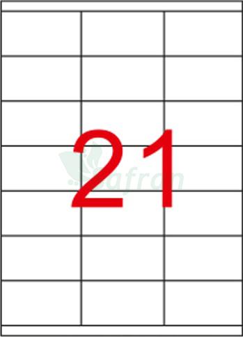 ŞEFFAF LAZER ETİKET 70 X 38