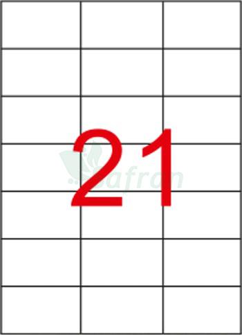 ŞEFFAF LAZER ETİKET 70 X 42.12