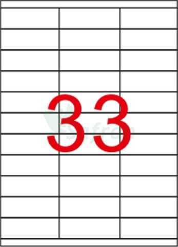 ŞEFFAF LAZER ETİKET 70 X 25.4