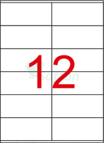 TANEX LAZER ETİKET 105 X 48